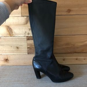 Cole Haan/Nike Air black leather tall boots {374}